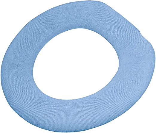 TURQUOISE TERRY CLOTH ELONGATED TOILET SEAT LID COVER
