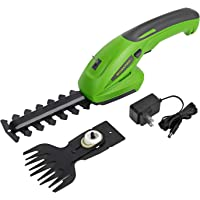 WORKPRO 7.2V 2-in-1 Cordless Grass Shear + Shrubbery Trimmer - Handheld Hedge Trimmer, Rechargeable Lithium-Ion Battery…