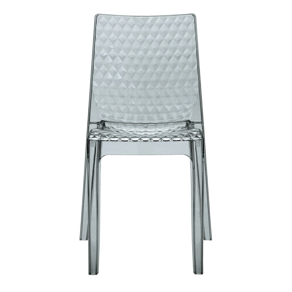 GRAND SOLEIL Grandsoleil upon Hypnotic trasparente sedia impilabile, in policarbonato, fumé grigio chiaro, 54x 50x 84cm Grandsoleil_S6319TRYL