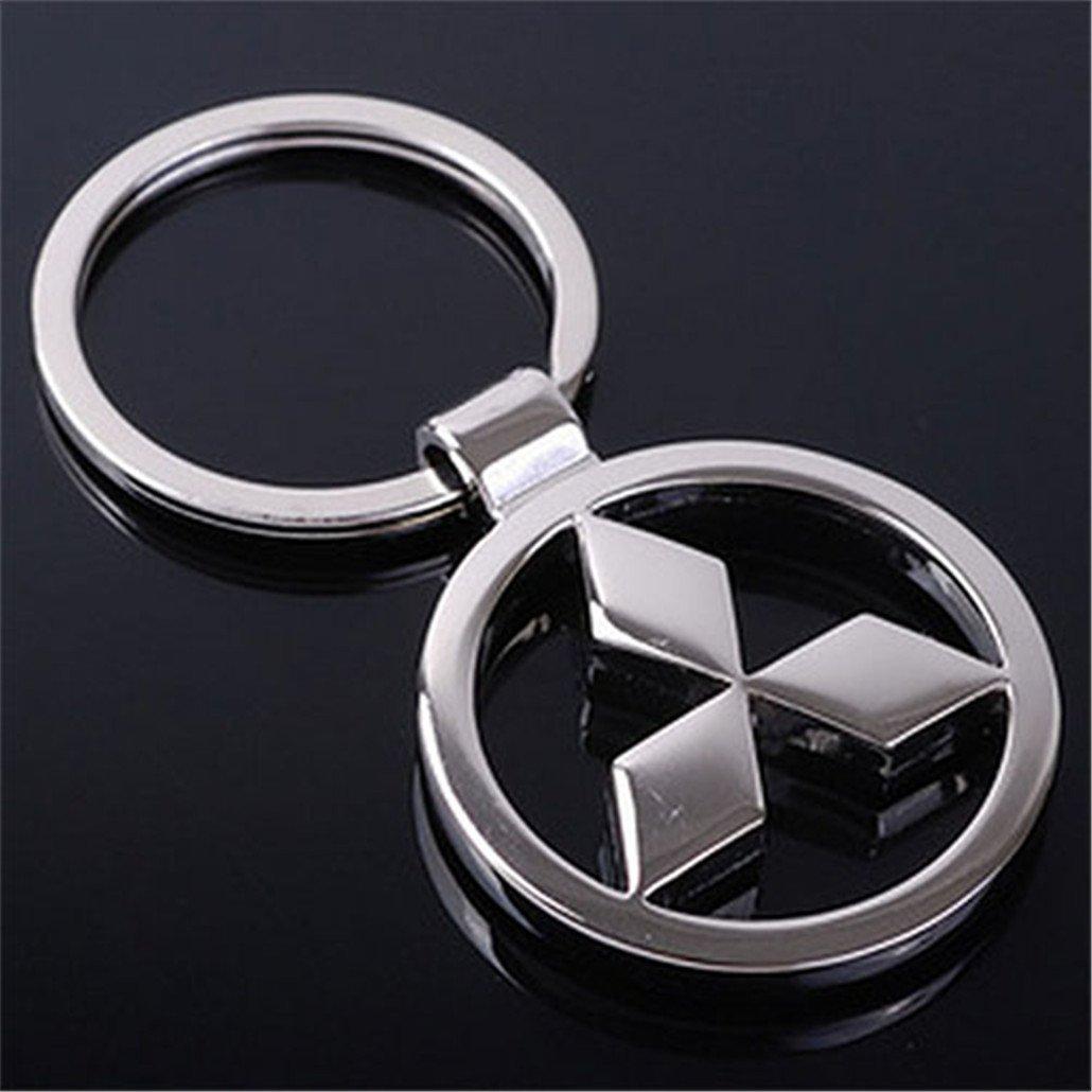 Fashion 3D Metal Car Logo Key Ring Keyring Keychain Key Chain For Mitsubishi Auto Pendant Key Holder