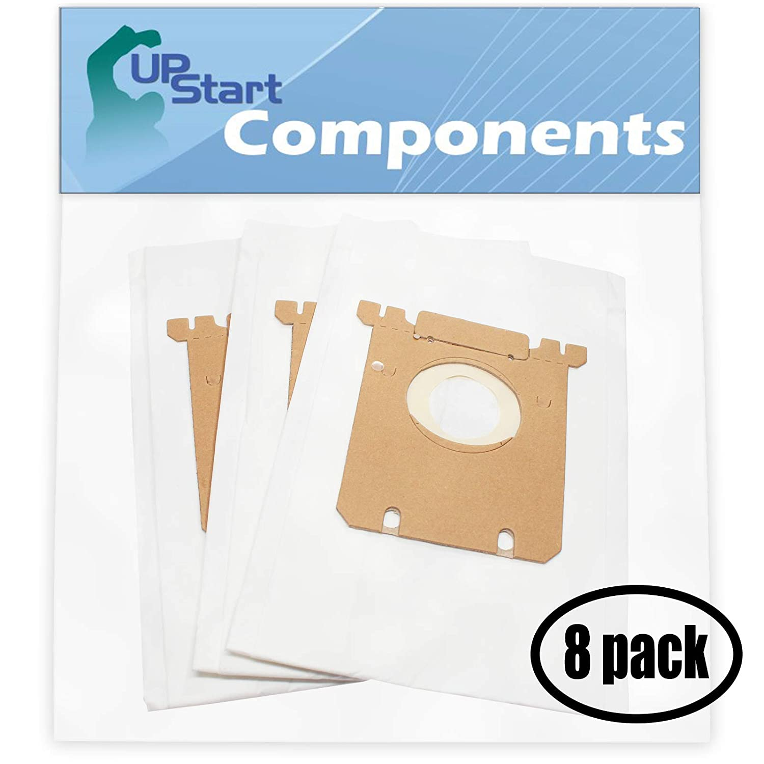 UpStart Battery 24 Replacement for Eureka 61230D Style S Vacuum Bags - Compatible with Eureka 61230F, OX Vacuum Bags (8-Pack - 3 Vacuum Bags per Pack)