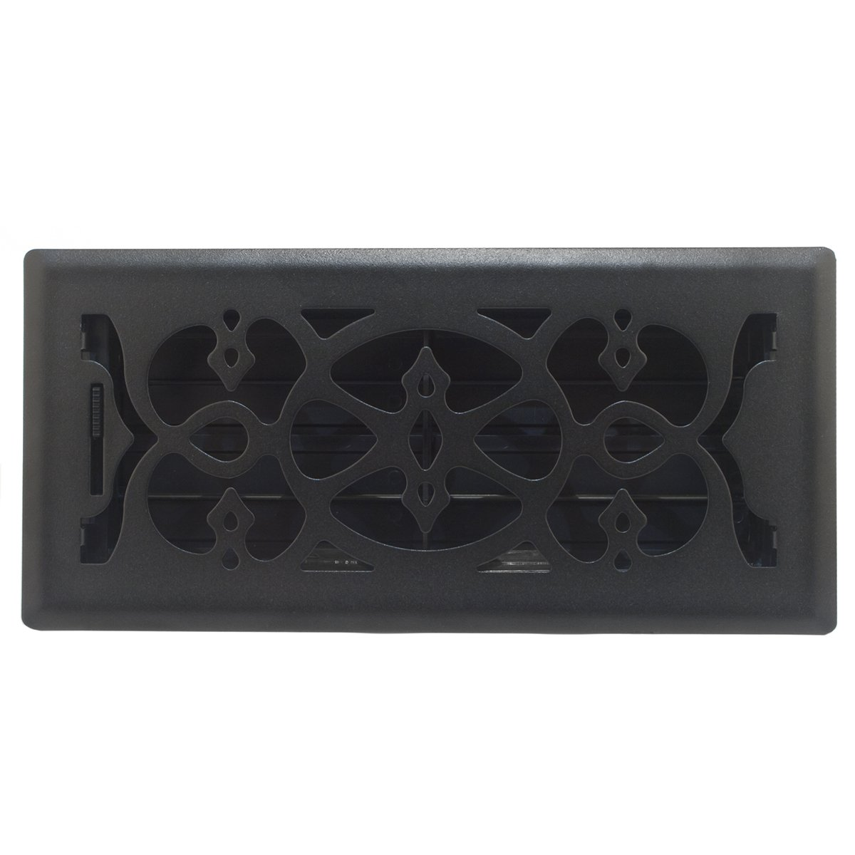 2-Inch x 12-Inch Accord AMFRBLV212 Floor Register with Victorian Design Matte Black Duct Opening Measurements