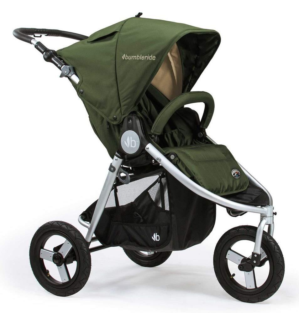 Bumbleride Indie Camp Green Adjustable Handle Running Foldable Stroller