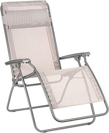 Lafuma R Clip Zero Gravity Patio Recliner (Magnolia Pink Batyline Canvas) Outdoor Folding Lounge Chair