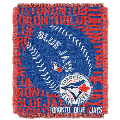 (The Northwest Company Officially Licensed MLB Toronto Blue Jays Double Play Jacquard Throw, 48