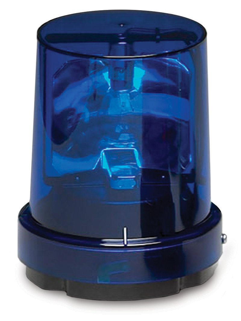 Surface Mount Blue 120 VAC 1//2 NPT Federal Signal 121S-120B Vitalite Rotating Warning Light