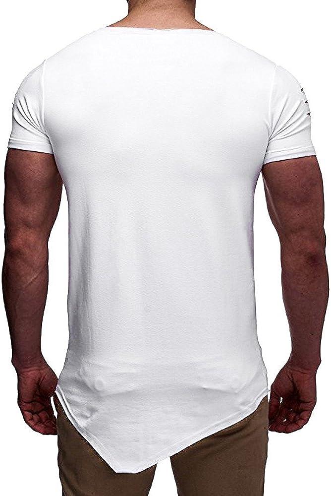 FRAUIT T Shirt Uomo Manica Corta Slim Fit Magliette Uomo Particolari T Shirt Uomo Divertenti Strane Maglietta da Running a Maniche Corte Maglia Allenamento Bodybuilding Top Camicia Elegante