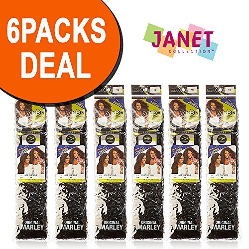 JANET COLLECTION AFRO TWIST BRAID COLOR 1B (PACK OF 6)