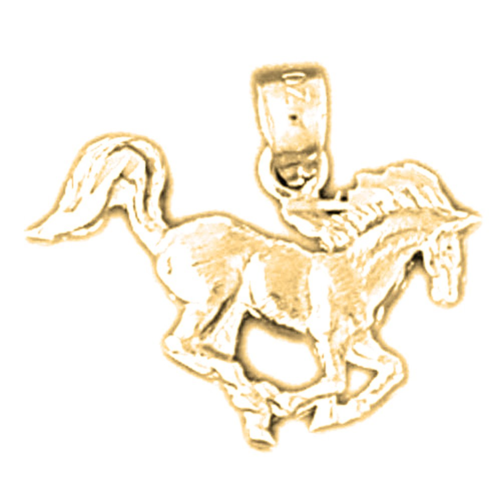 14K Yellow Gold-plated 925 Silver Horse Pendant with 30 Necklace Jewels Obsession Horse Necklace