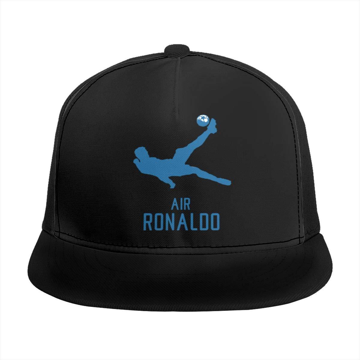 DeniCar Unisex Adjustable Baseball Caps Cristiano-Ronaldo-and-Football Skull Cap