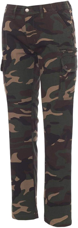CHEMAGLIETTE Pantaloni da Lavoro Donna Estivo 100/% Cotone Multi Tasche Payper Forest Summer