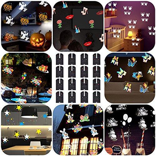 YPINGLI 16Patterns Remote Control LED Stage Light Waterproof Moving Sparkling Landscape Halloween Lamp LED Lights (Color : AU Plug)