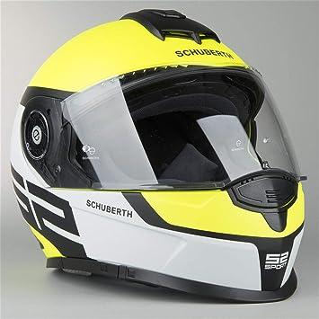 Schuberth S2 DVS deportes cara completa casco de moto – Elite amarillo