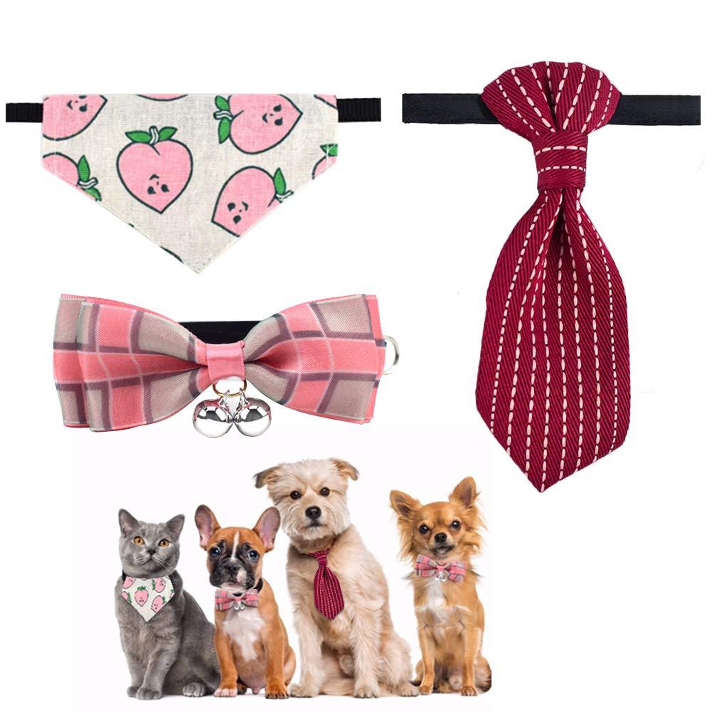 EQLEF Corbata Perro pequeño Ajustable, Lindo Cuello Corbata y ...