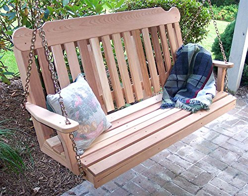 Creekvine Designs 6' Cedar Classic Porch Swing
