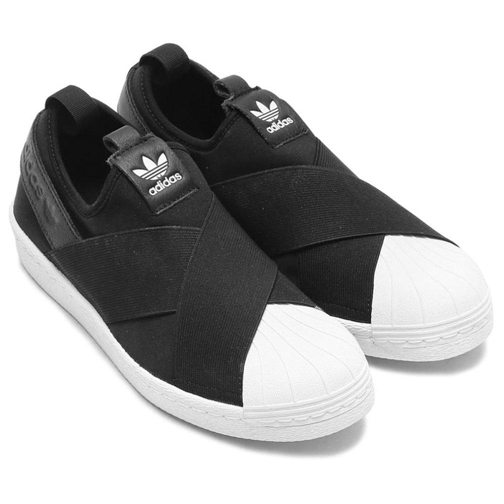 [Superstar Slip On W S81337] スニーカー S81337 B06X94Y73S 22.5cm ブラック×ブラック×ホワイト