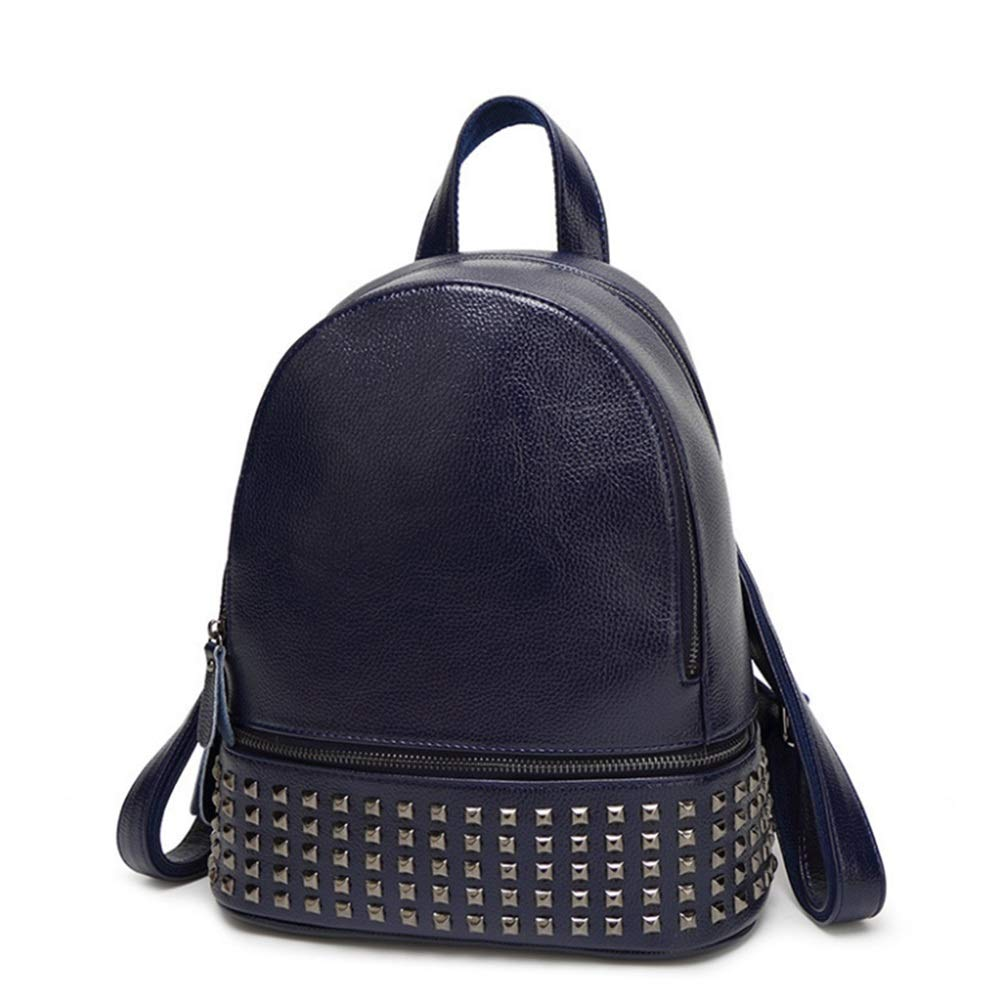 WEATLY Rivet Element Backpack Backpack Backpack Lady Reiserucksack Kurze beiläufige Schüler Umhängetasche (Farbe   Blau) B07MT9VFHB | Qualität  |  Neuer Markt  | Abrechnungspreis  2a1794