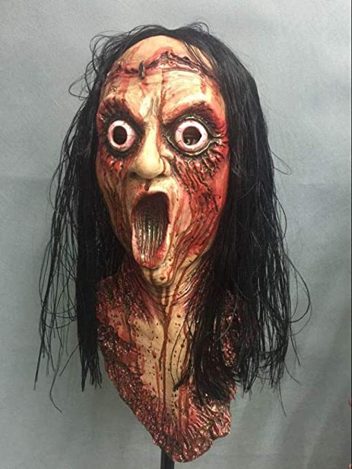 Enfermera Máscara De Terror Máscara Fantasma Femenina Látex ...