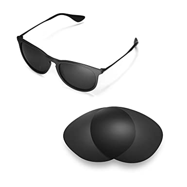 4f6ae19743b Walleva Replacement Lenses for Ray-Ban Erika RB4171 54mm- Multiple Options  (Black -