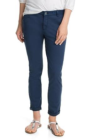 43566c9e6ee7 edc by Esprit Basic 035Cc1B038 - Pantalon - Chino - Femme - Bleu (Cw Navy