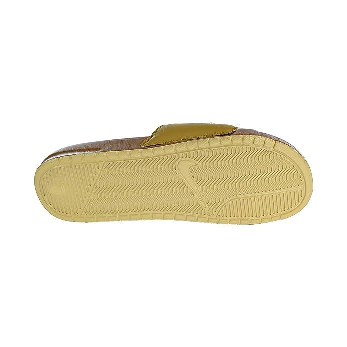new york 79f33 0ab94 Amazon.com   Nike Benassi JDI Chenille Men s Slides Muted Bronzze Club Gold  ao2805-200   Shoes