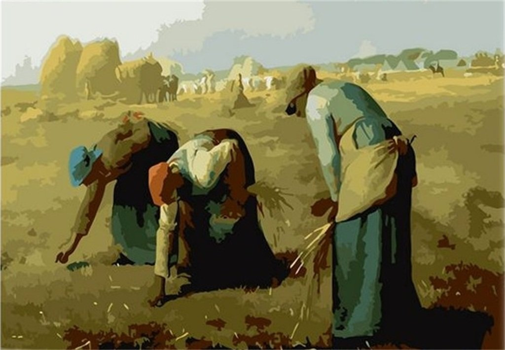 Colour Talk Diy oil painting The Gleaners 1620 inch. paint by number kit