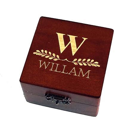 Personalised Brown Wooden Groomsmen Gift Box Jewelry Box Wedding Gift Best Man Gift Wedding Favors
