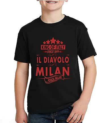 kharbashat A.C. Milan T-Shirt for Boys, Size 30 EU