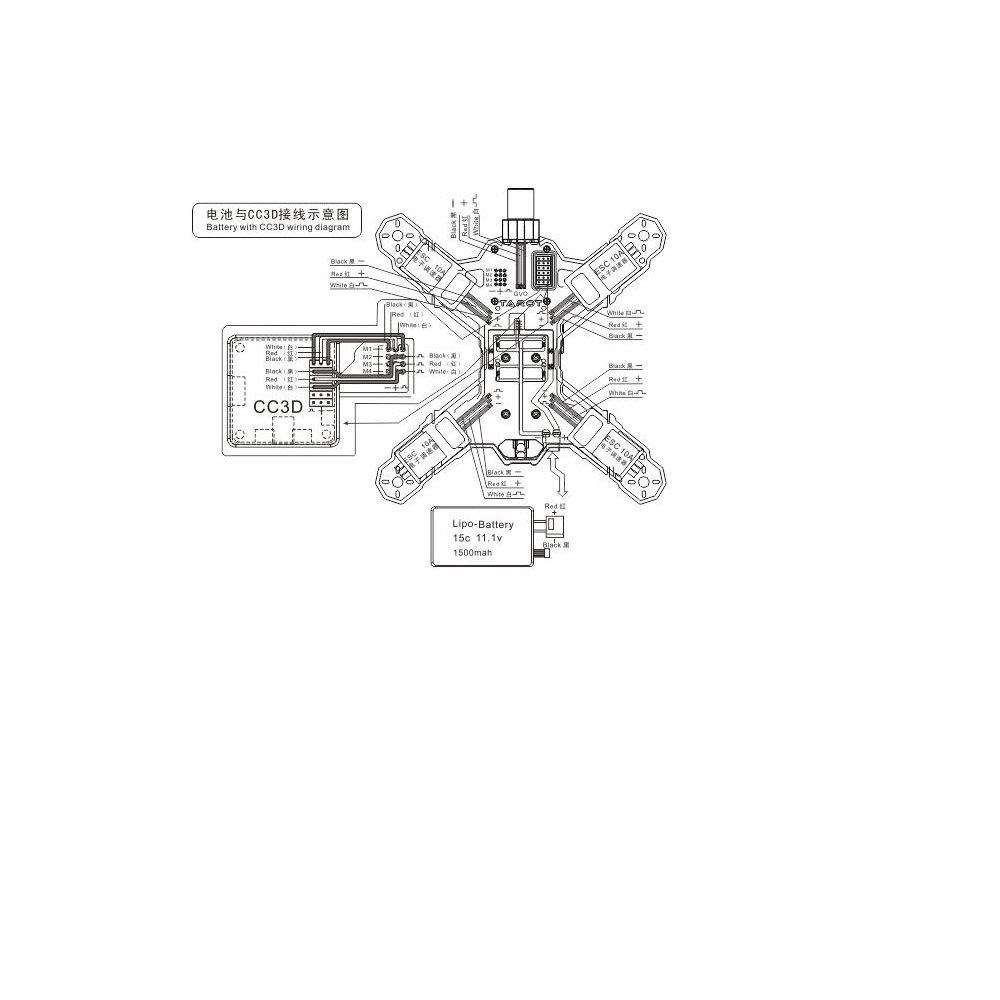 ccd wiring diagram ccd image wiring diagram amazon com tarot 200 200mm size mini racing quadcopter carbon on cc3d wiring diagram