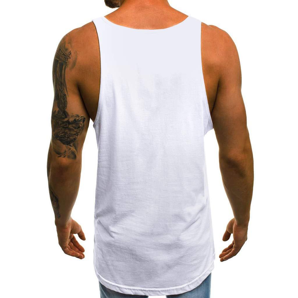 TIFIY Tank Top Herren M/änner Sommer /Ärmelloses Slim Brief gedruckt /ärmelloses Muskelshirt T Shirt Fitness Achselshirts Unterhemden Ausbildung Weste