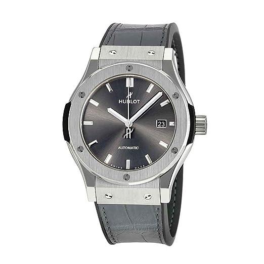 Hublot clásico fusión gris Dial Automático Mens Reloj 542. NX. 7071. LR: Amazon.es: Relojes