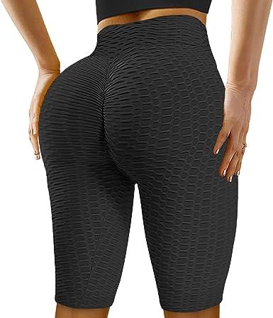 Todaies Womens Yoga Shorts Hips High Waist Sports Yoga Shorts Slip Bike Workout Pilates Leggings