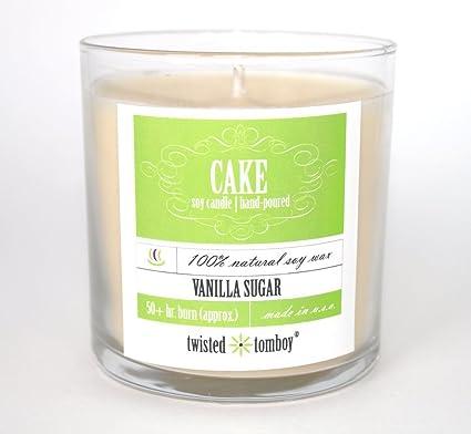 Amazon Cake Vanilla Sugar 100 Scented Soy Wax Candle SMELLS