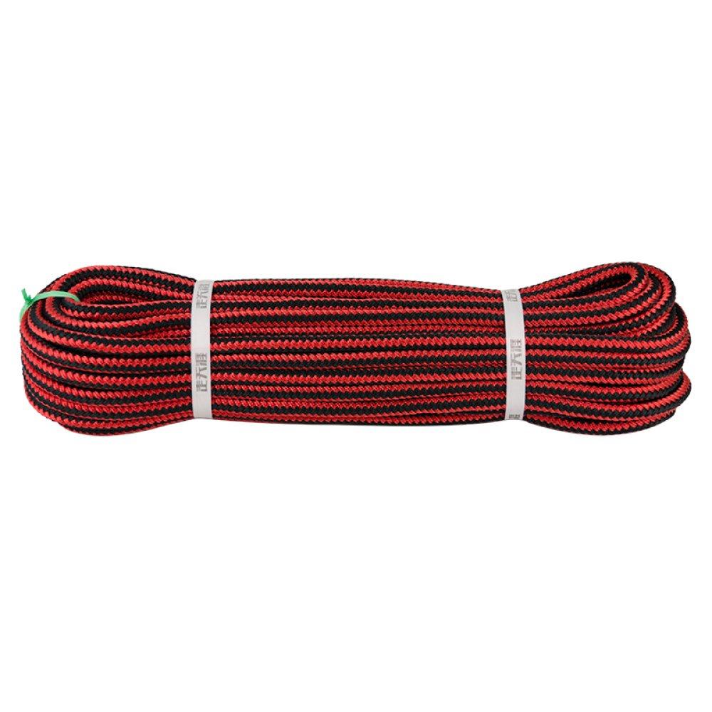 Rouge ZAIYI Cordon De Serrage Extérieur De La Tente De Sauvetage Escalade Articles Ménagers Usage Corde Résistant à l'usure Quotidienne Fourni,rouge-10m12mm 20m12mm