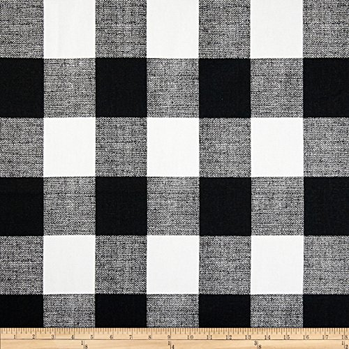 Premier Prints Anderson Check Black/White Fabric By The Yard - Black White Upholstery Fabric