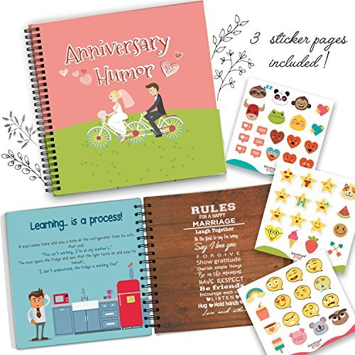 Wedding Anniversary Humor Book - A Hardcover Marriage Memory Book To Cherish Special And Funny Moments Lived Together With Your Spouse! Personalized & Unique Presents For Husbands & Wifes