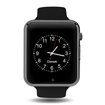 Bluetooth Smartwatch [Correa suave], CHEREEKI Reloj de pulsera deportivo con pantalla táctil. smartwatch soporta tarjetas SIM/tarjetas TF (micro SD), ...