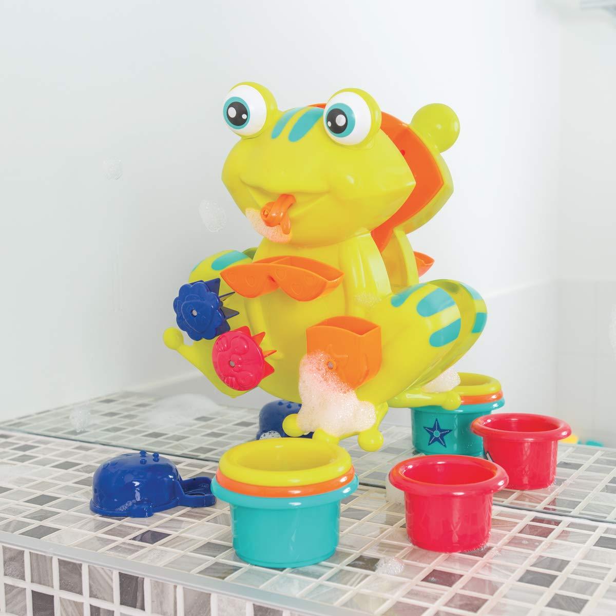 moulins verres gigognes perc/és D/ès 12 mois coupelle Fixations ventouses Coffret de jeux deau pour le bain : grenouille r/éf LUDI 2246