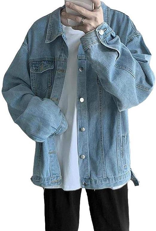 [ウンセン]メンズ デニムジャケット オシャレ ゆったり カジュアル アウター デニム 長袖 韓国 ウォッシュ加工 ジャケット ファッション コート 春 秋 冬 コート ゆったり bf風 ファッション