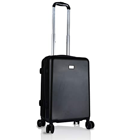 4bb5e5df30a0 Cross Montana 20 Inches Hard Sided Cabin Luggage Trolley (Black)   Amazon.in  Bags