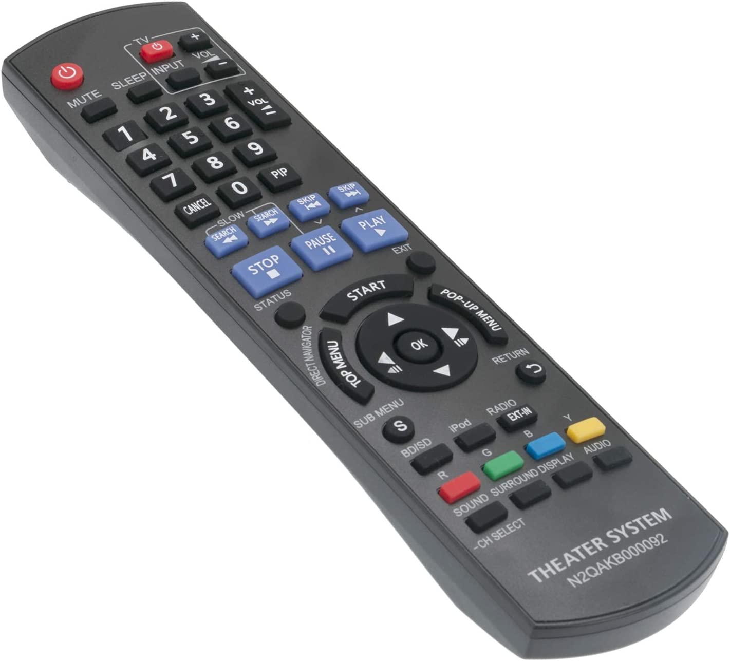 New N2QAKB000092 Replace Remote Control fit for Panasonic Blu-ray Disc Home Theater Sound System SC-BT228 SA-BT228 SB-HF480 SB-HC480 SB-HS480 SB-HW480