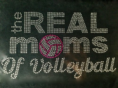 Real moms Volleyball Rhinestone Transfer product image