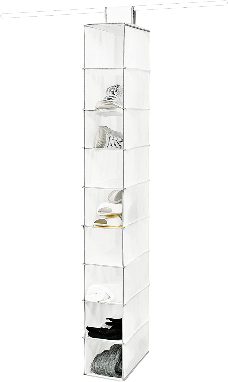 Compactor Estantería zapatero 9 baldas, Gama Novara, Color blanco, Tamaño 15 x 30 x 128 cm, RAN1259
