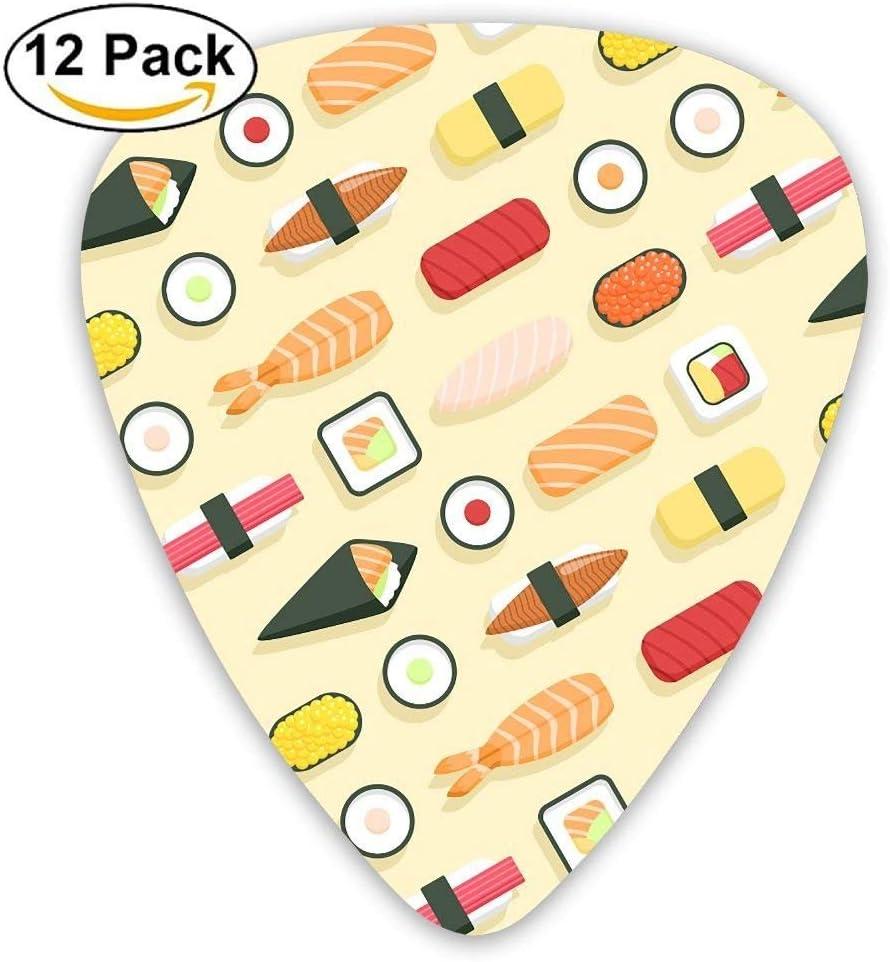 12-Pack Custom Guitar Picks Sushi Color Standard Bass Guitarist ...