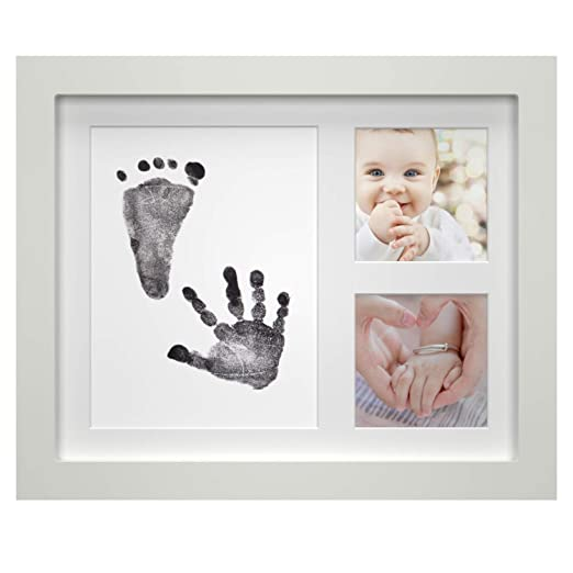 ONE WALL Baby Handprint Footprint Kit Newborn Babyprints Keepsake Photo Frame