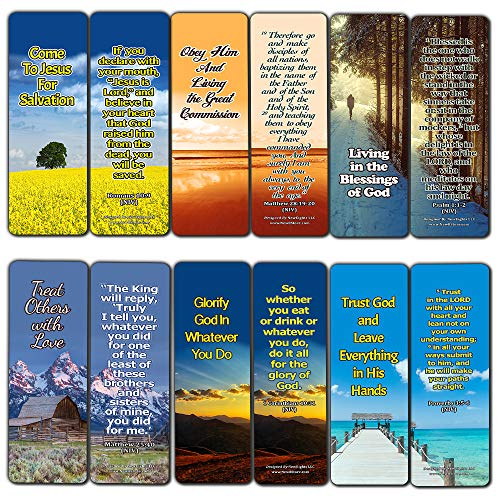 Top Bible Verses on God's Will Bookmarks (60-Pack) - Perfect Gift Idea for Friends and Loved Ones (The Nine Fruits Of The Holy Spirit Catholic)