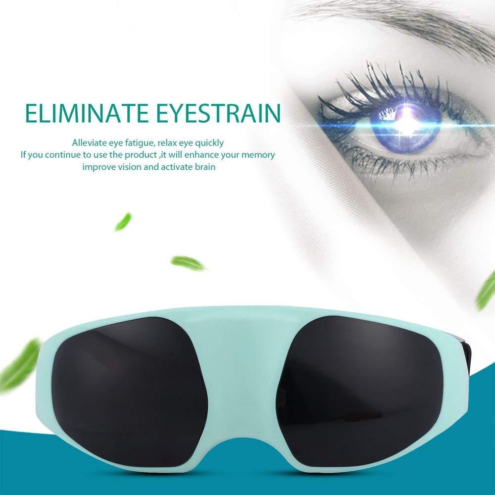 BFHCVDF Masaje magn/ético el/éctrico para aliviar la Fatiga Cuidado de los Ojos Relaje el masajeador para astenop/ía Azul y Blanco