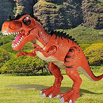 Large Walking Dinosaur Toys for Boys Dinosaur Toys for Boys and Girls – Tyrannosaurus Rex T-Rex with 3D Projection - Roaring, Walking and Glowing - Heading Moving and Tail Wagging T Rex (19 inch): Toys & Games