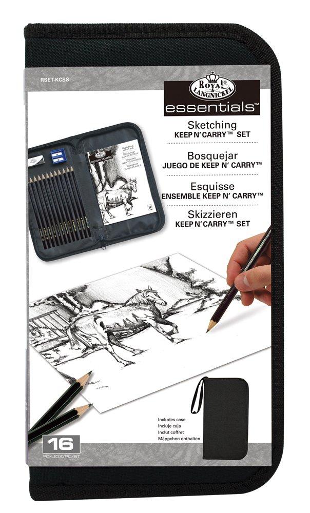 Set de lápices Sketching Royal & Langnickel con estuche xmp