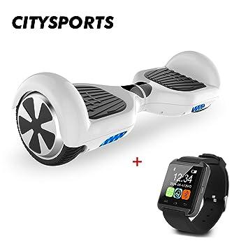 CITYSPORTS Hoverboard 6.5 Pulgadas, Balance Board Patinete Eléctrico 2x350W LED